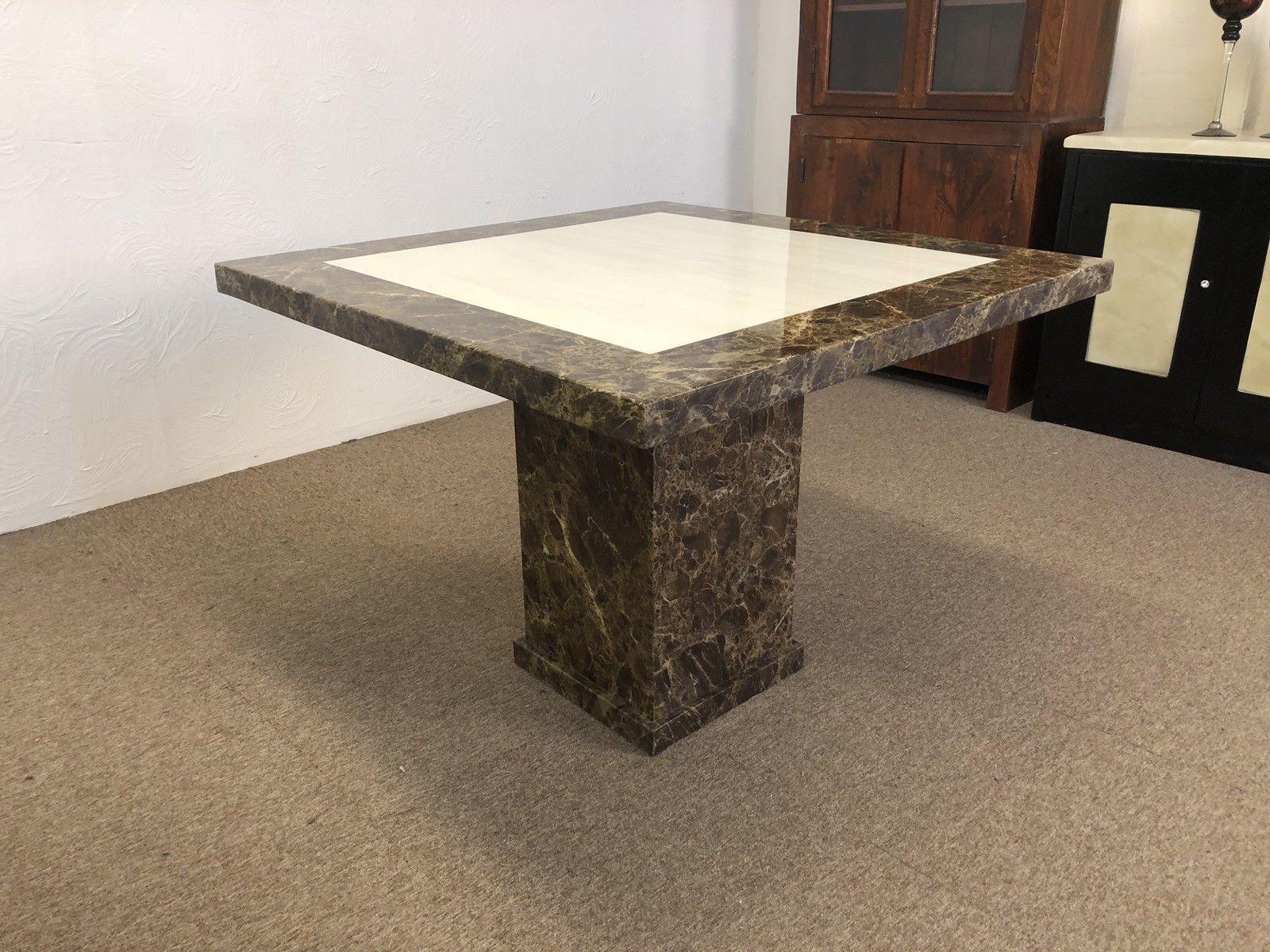 Monaco Square Marble Table 100cm2 Designer Marble
