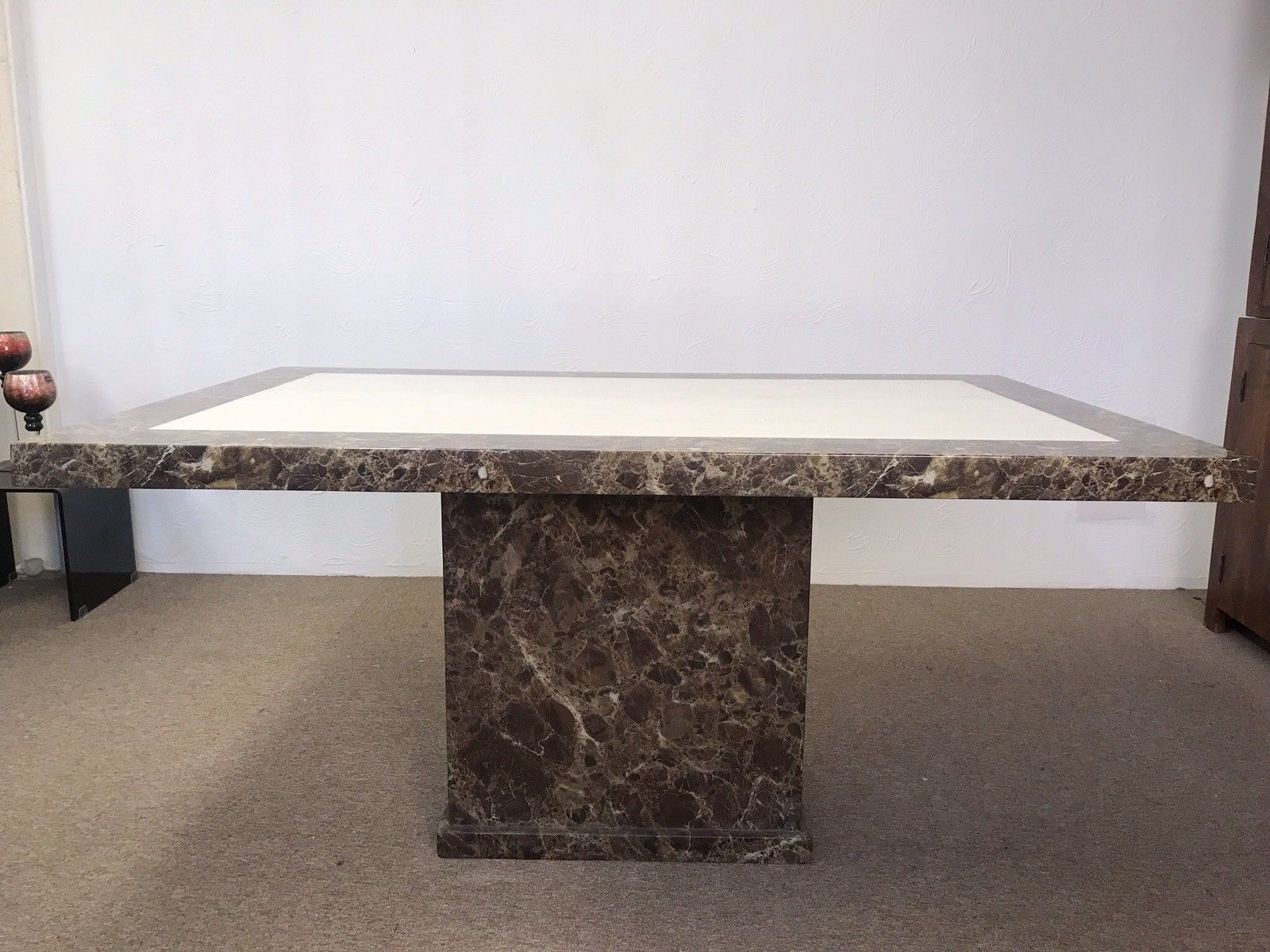 Rectangular Monaco Marble Dining Table 160cm Designer Marble