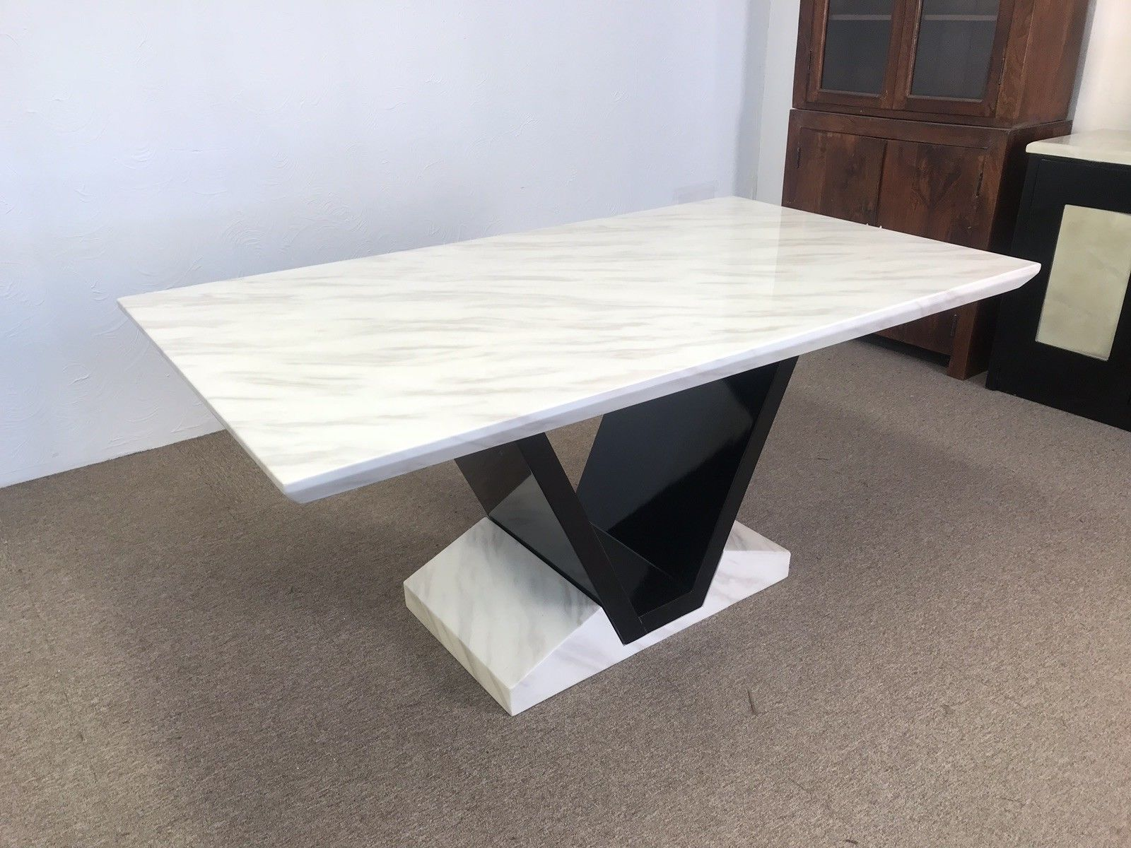 Munich Marble Dining Table 180cm